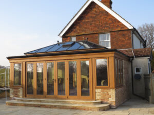 Seasoned Oak Orangery made and installed with old-fashioned craftsmanship